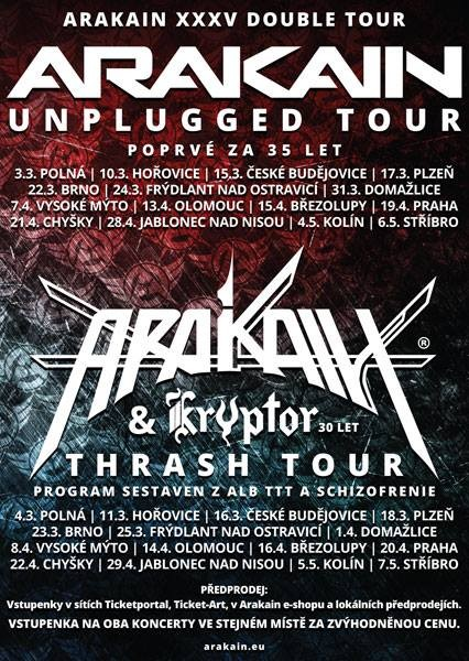 Arakain a Kryptor tour