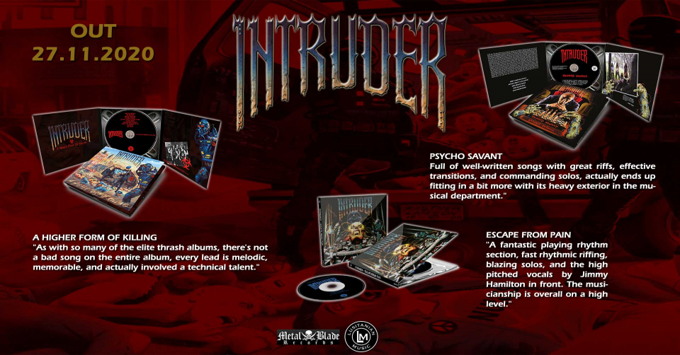 Recenze: INTRUDER - Higher Form Of Killing, Escape From Pain, Psycho Savant / Lusitanian Music