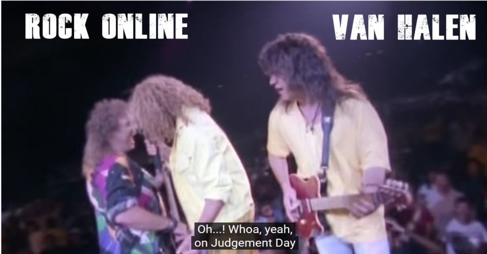 METAL LINE: Rock Online - VAN HALEN - Right Here Right Now Concert 1993